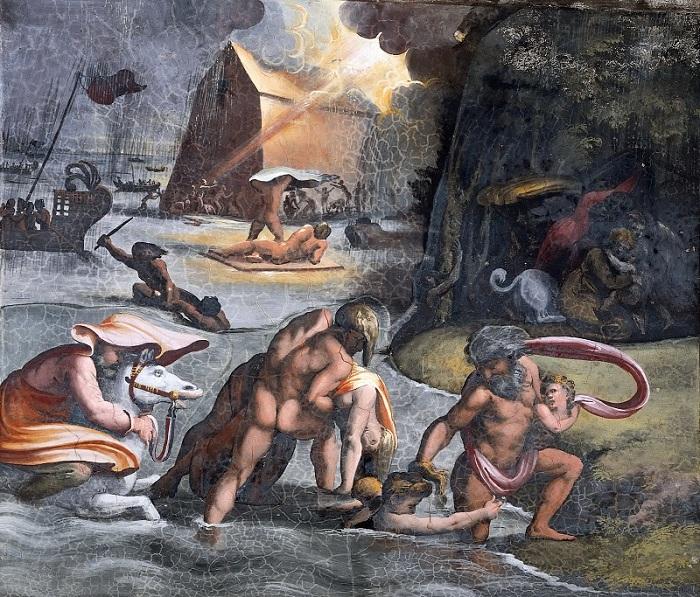 «Всемирный потоп». фреска Музеи Ватикана. Ватикан. Автор: Рафаэль Санти.